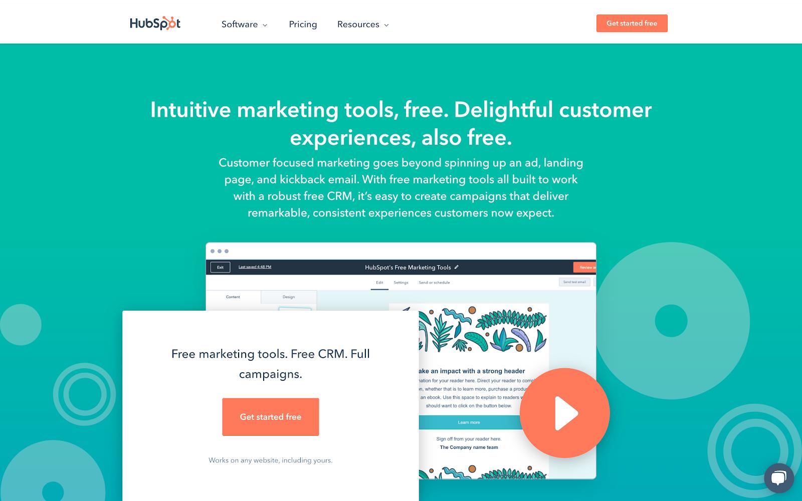 free marketing software CRM platform