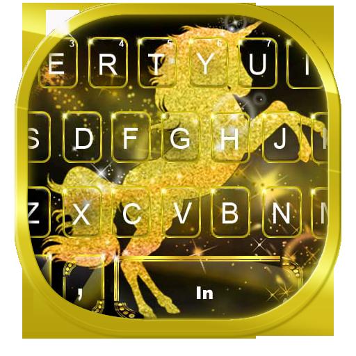 Gold Luxury Unicorn Keyboard Theme Icon