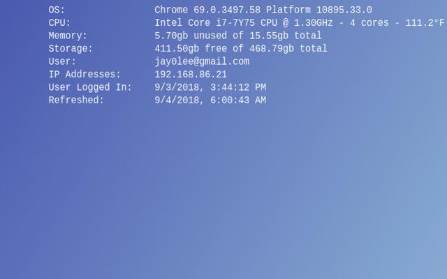Chrome OS Wallpaper Info