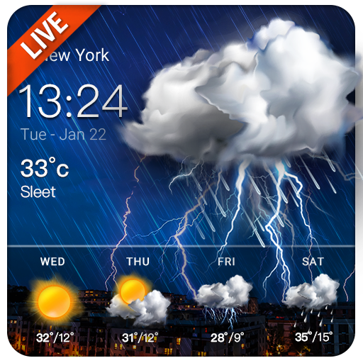 weather forecast and weather alert app ⛈⛈ Icon