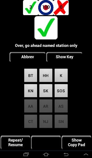 20WPM Amateur ham radio Koch CW Morse code trainer App