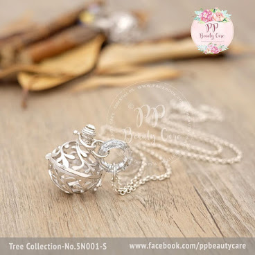 5N001-S_Tree Collection: 925 sterling Silver necklace essential oil diffuser Tree系列: 925純銀精油項鏈