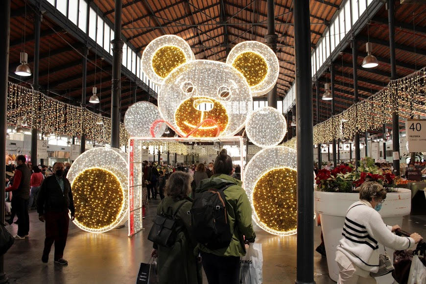 El Mercado Central durante los días de Navidad.