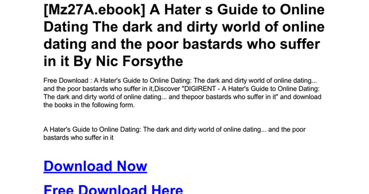 Hater online dating