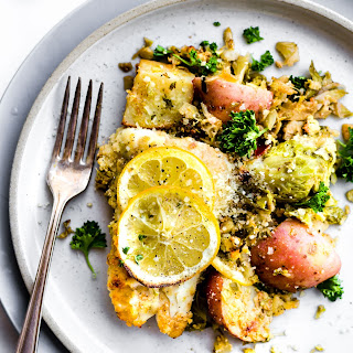 Honey Mustard Baked Fish with Vegetables {One Pan Meal}.