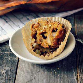 Spiced Apple Pumpkin Muffins with Quinoa Pepita Streusel.