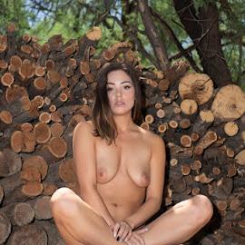 Got Wood? by Kens Yeaglin - Nudes & Boudoir Artistic Nude ( nikiidarling, outdoors, wood, nude, logs )