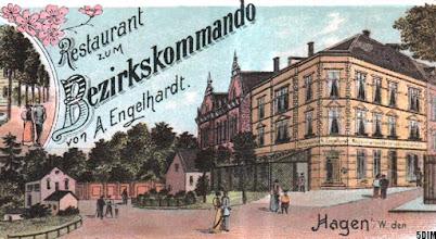 Photo: Detail einer Ansichtskarte (von Emil Zimmermann, Herdecke) gebraucht anno 1900: Kreuzung Buscheystraße in Richtung Friedhof