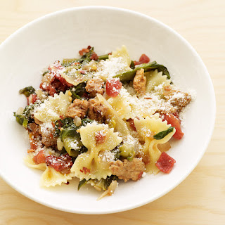 Bowtie Pasta with Sausage and Escarole