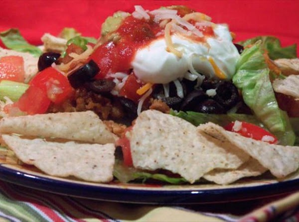 Serve with chips, sour cream, guacamole, salsa, and any other garnish desired. Enjoy!!
