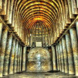 Karla Caves by Abhishek Pandey's PhotoGraphy - Buildings & Architecture Public & Historical ( cave, tombs, hdr, details, history, india, colors, architecture )