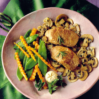 Pork Medallions with Rosemary and Mushrooms.
