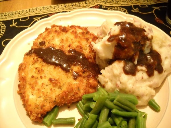 Parmesan Panko Chicken With Balsamic Butter Sauce Recipe