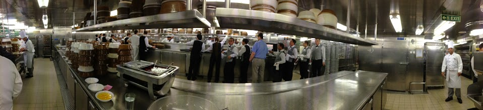 Photo: The best experience of the week - the Chefs Table dinner - tour of the kitchen with the exec chef