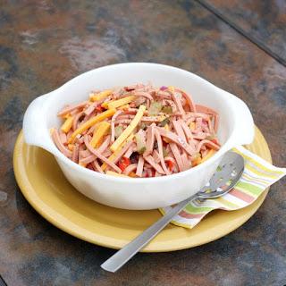 German Wurst Salat (Bologna Salad).