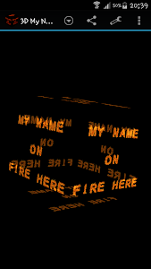 3D My Name On Fire Wallpaper screenshot 1