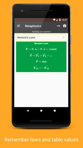 Betaphysics u2014 physics solver and formulas helper android2mod screenshots 6