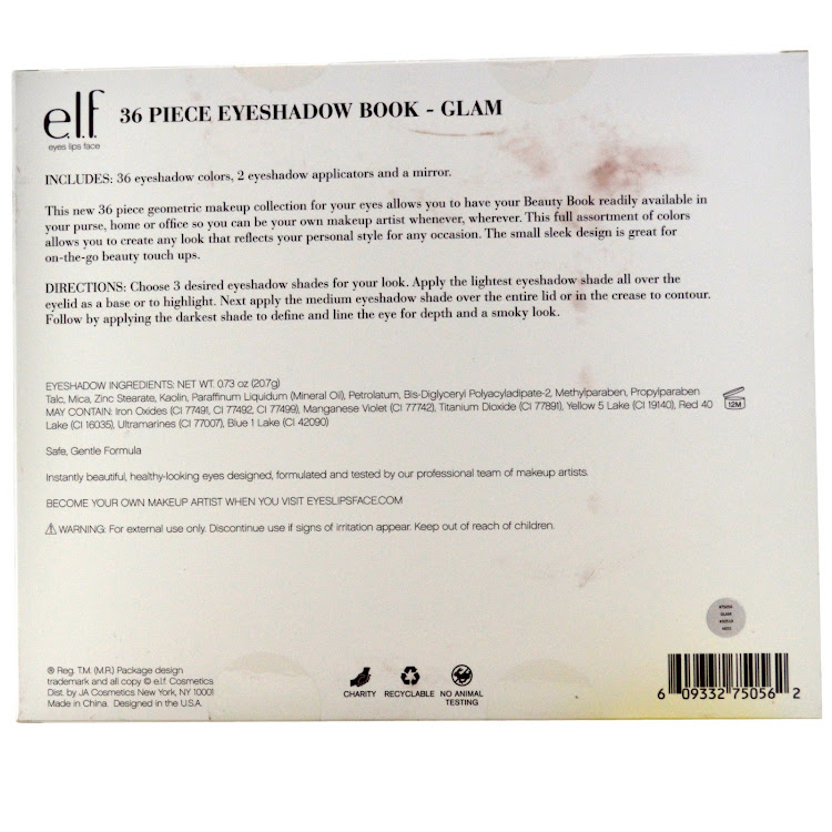 E.L.F. Cosmetics, 36 Piece Eyeshadow Book, Glam, 0.73 oz (20.7 g)