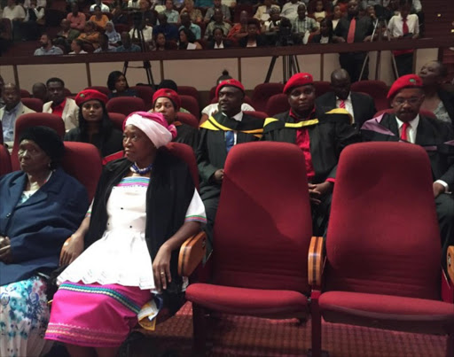 Julius Malema's family and EFF leadership attend his graduation ceremony at Unisa in Pretoria.