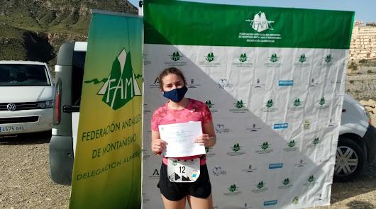 La joven corredora de montaña olulense, Irene Bravo.
