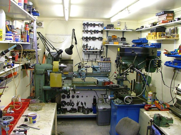 This one shows the shop from the machinery end with the metal prep ...