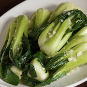 Baby Shanghai Bok Choy Stir-Fried with Minced Garlic