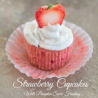 Strawberry Cupcakes For The Cure.