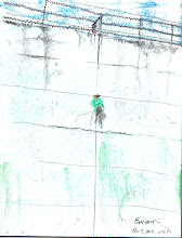 Photo: 破繭而出2010.10.20粉彩筆+軟式粉蠟筆 趁近中午偶然停雨的空檔,走了圈外圍一舒累日來的鬱悶,只見監獄高牆縫中鑽出了株不知名的植物,令我豁然開朗。 謝謝你的啟發!同你一樣,這牆…再也阻擋不了我啦!