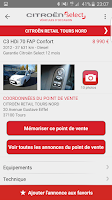 Screenshot of Citroën Select Occasions
