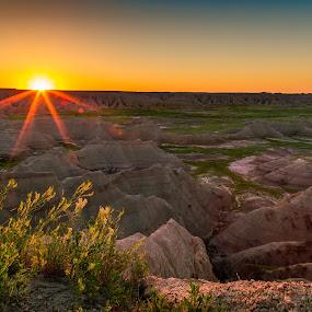 Sunrise over the Badlands by Chris Martin - Landscapes Sunsets & Sunrises ( badlands national park, stock, sunset, summer, south dakota, sunrise, badlands,  )