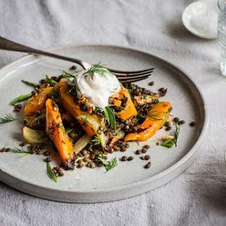 Lentil, Roast Butternut Squash and Fennel Salad Recipe
