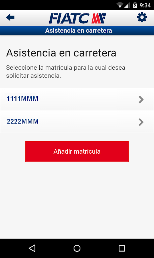 FIATC Seguros- screenshot