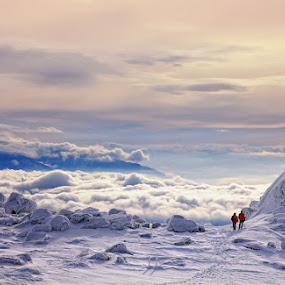 Insignificant by Malinov Photography - Landscapes Mountains & Hills ( mountain, nature, snow, landscape, people )
