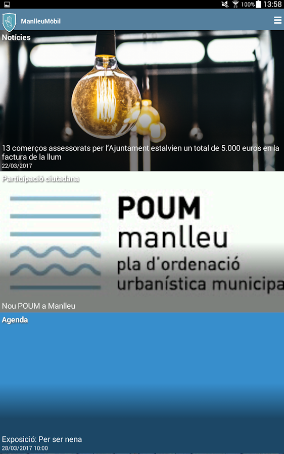 ManlleuMòbil- screenshot