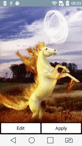 Fiery unicorn live wallpaper