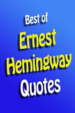 BestOf Ernest Hemingway Quotes