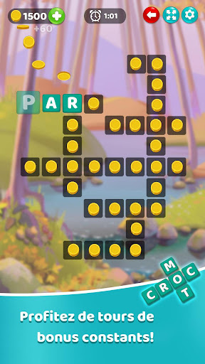 Code Triche Croc Mots: jeu de mots croisu00e9s APK MOD screenshots 1