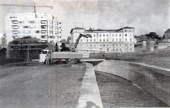 Photo: Campolongo 1970. Comézase a canalizar este tramo do río Gafos. Aquí o río chamábaselle Río da Estación ou de Campolongo.