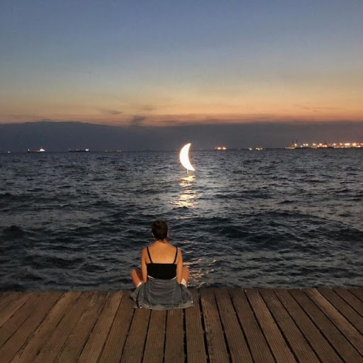 Stand in the light of the moon, sit in the sh...