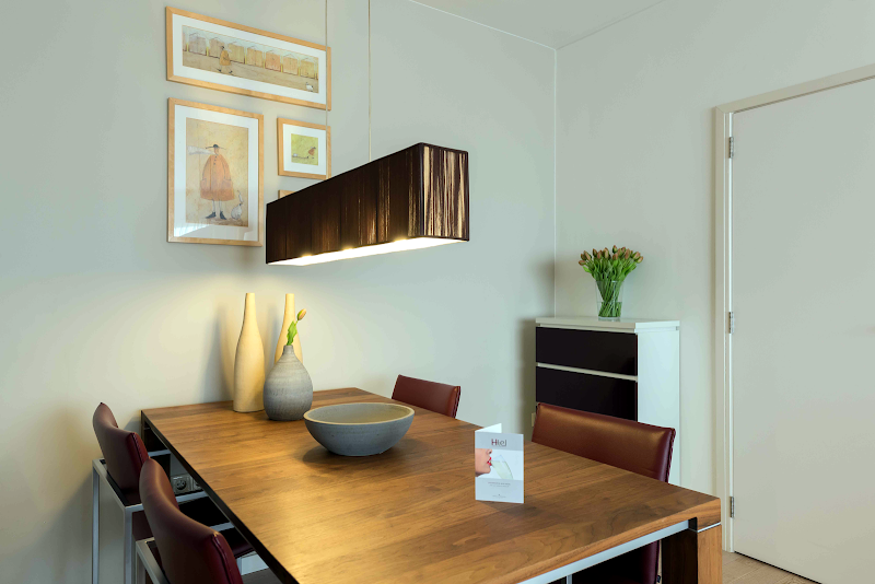 Dining space at Noord apartment