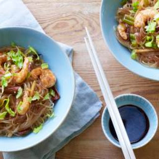 Thai Noodles With Cinnamon And Prawns.