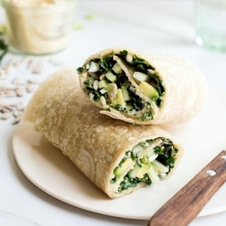 Kale and Hummus Wrap Recipe