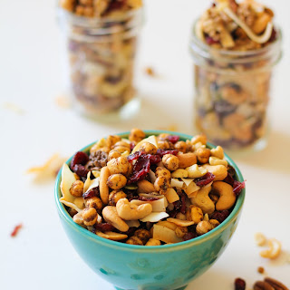 Sweet and Savory Trail Mix with Coconut Chips and Roasted Chickpeas Recipe