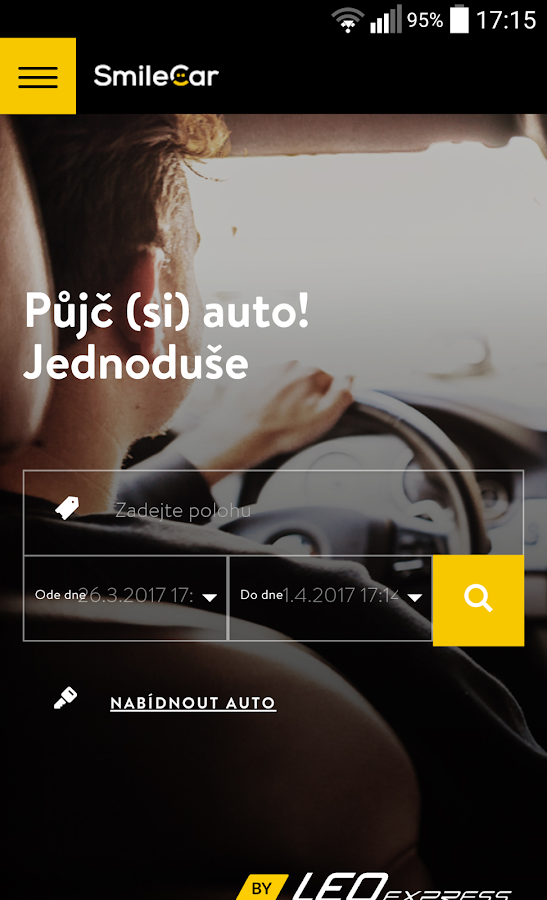 SmileCar Web App- screenshot