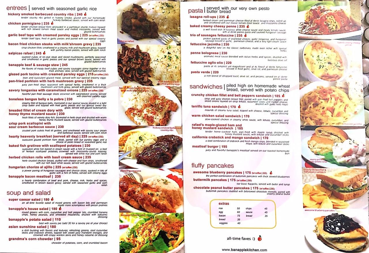 Banapple menu