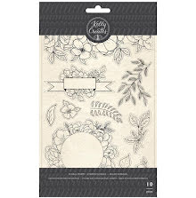 Kelly Creates Acrylic Traceable Stamps - Florals