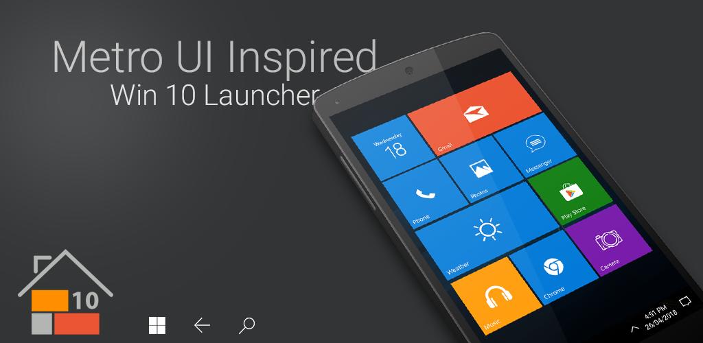 Win 10 Launcher APK Download com real launcher wp ten