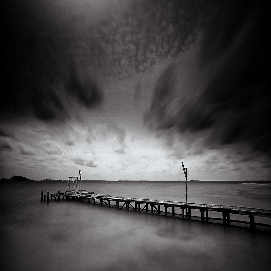 Moving Clouds by Noor Abdillah (abdie_ft) - Landscapes Waterscapes ( slowspeed, waterscape, bw, long exposure, landscape )