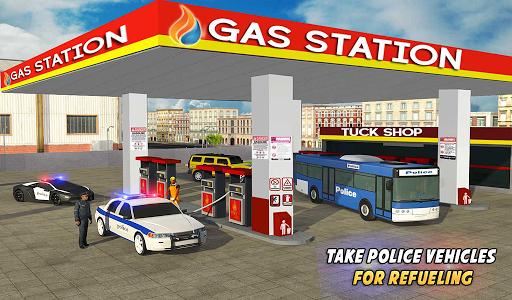 Police Car Wash Service: Gas Station Parking Games 1.2 screenshots 11