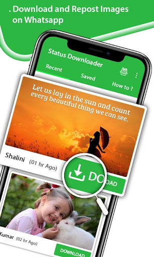 Status Downloader - Share Free Videos, Save Images 1.3 screenshots 1